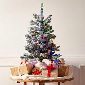 3'Prelit Snow Kissed Twinkling Slim Tree